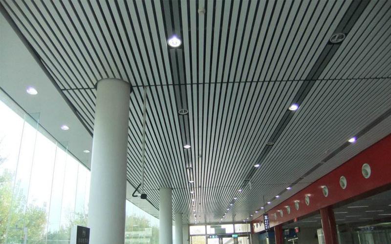 Fashion Aluminum Restaurant Strip Suspended False Ceiling Designs