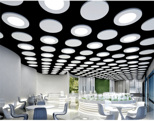 3200K/6000K Commercial Aluminium Frame Suspended Fixture Square LED Panel 220V Round Light Ceiling