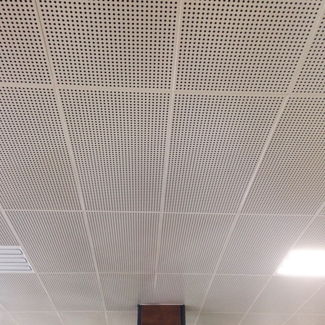 Lay in 595*595 Sound Dampening Acoustic Aluminum Ceiling Tiles Metal Panels