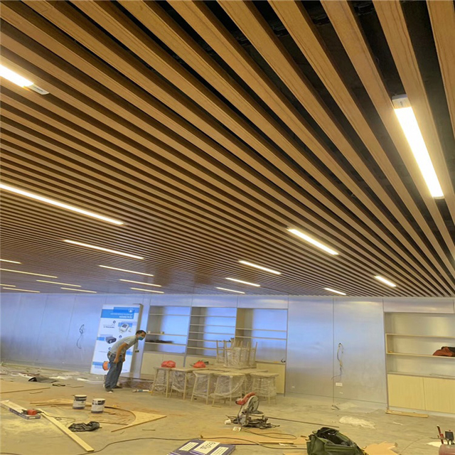 2020 Hot Sales Customized False Aluminum Baffle Metal Ceiling Designs