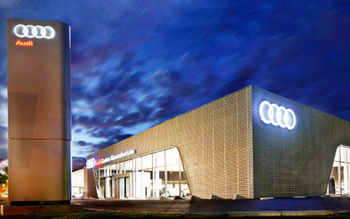 Audi service center-Aluminum strip Ceiling