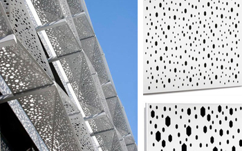 2018 new ceiling solution launch - Aluminum clip in ceiling with hexagonal perforation