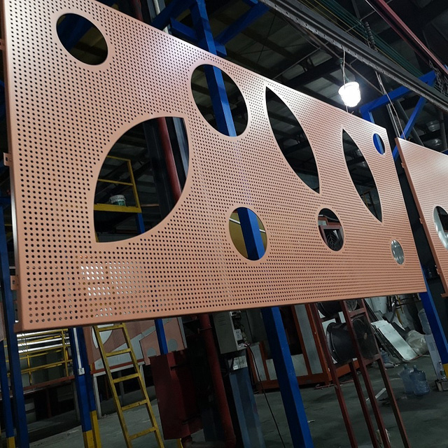 Fireproof Metal Perforated Panel Carved Aluminum Veneer