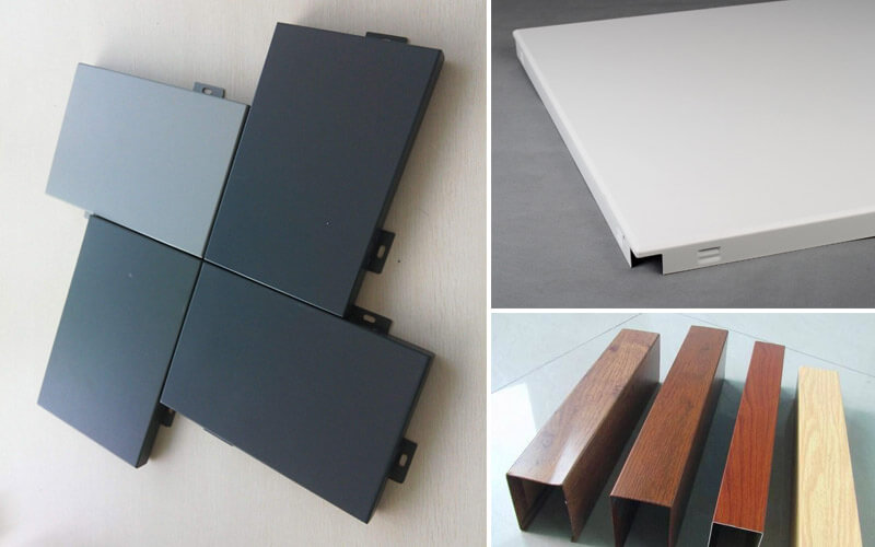 Aluminum rectangular tube, aluminum gusset, aluminum veneer surface coating types and introduction