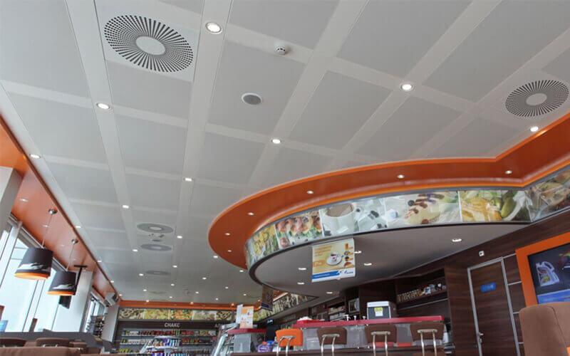 aluminum clip in ceiling