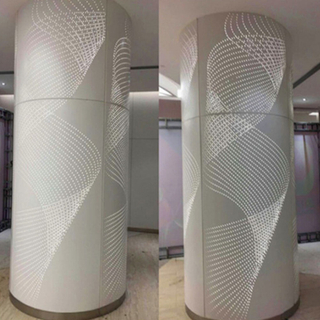 Decorative Building Material Unitized Aluminum Column Cladding Panel