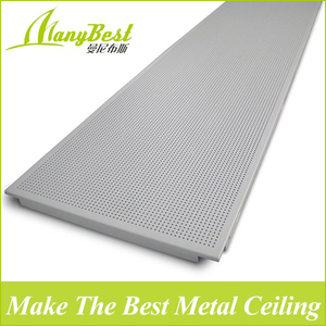 2019 Hotsale 600*1200 Manybest Aluminum Clip in Decorative Ceiling Tiles