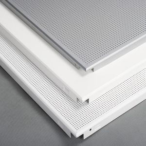 Aluminum False Plain Perforated Ceiling panel 60*60 Clip in