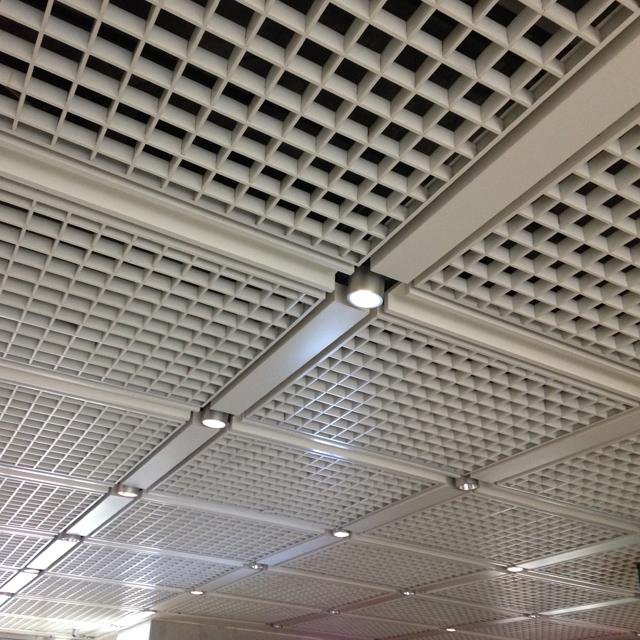 Open Cell Grid Ceiling Tiles Design